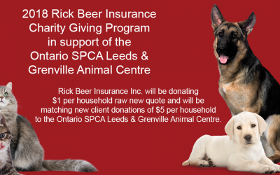 2018 Rick Beer Insurance Charity Giving Program
